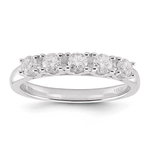 5 Stone Diamond Wedding Band - 7