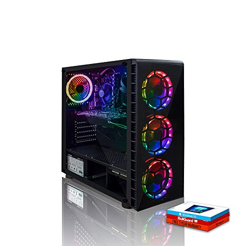 Fierce RGB Gaming PC – AMD Ryzen 3 3200G 4GHz, AMD RX 570 8GB, 8GB 3000MHz, 1TB Hard Drive, Windows 10 Installed…