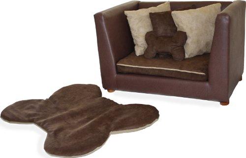 Keet Deluxe Orthopedic Memory Foam Dog Bed Set, Medium, Brown