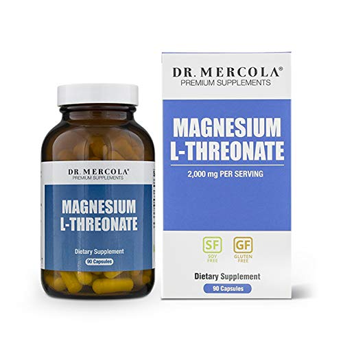 (Dr. Mercola Magnesium L-Threonate – 90 Capsules (30 Servings) – 2,000 mg Per Serving – Highly Absorptive & Bioavailable Magnesium Supplement – GMO Free & Formulated Without Laxative)