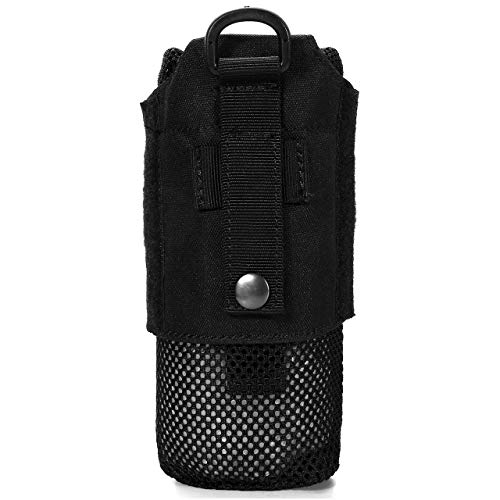 (FALETO Mesh Lightweight Water Bottle Carrier Insulated Drawstring Water Bottle Holder Tactical Molle Water Bottles Pouch)