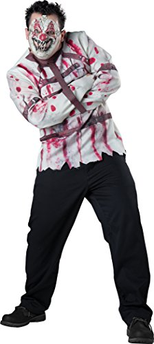 InCharacter Costumes Men's Plus-Size Circus Psycho Clown Costume, White/Red, XXX-Large ()