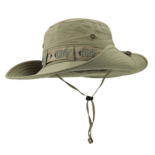 3cc5a73372e Fishing Hat Boonie Hat Summer Wide Brim Bucket Hat UV Protection Safari Cap  Outdoor Waterproof Hunting