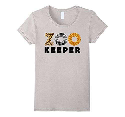 Womens Zookeeper African Savanna Animal Print T-Shirt Medium Silver