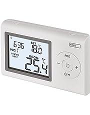 EMOS Digitale kamerthermostaat, programmeerbare wandthermostaat voor verwarming en koelsystemen, thermostaat/kamertemperatuurregelaar met vorstbescherming, draadverbonden voor opbouwmontage