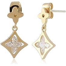 Inside Out Four Leaf Clover Dangle Earrings by Lovey Lovey
