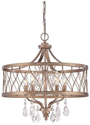Minka Lavery Chandelier Pendant Lighting 4404-581, West Liberty Dining Room, 5 Light, Olympus Gold (Pendant 1 Olympus Light)