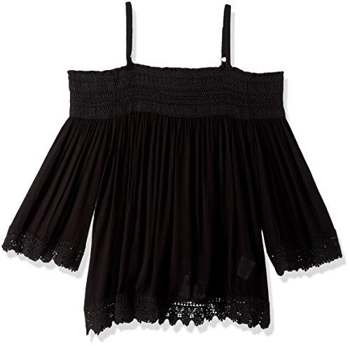 Jolt Women's Long Sleeve Cold Shoulder Top, Black, Large