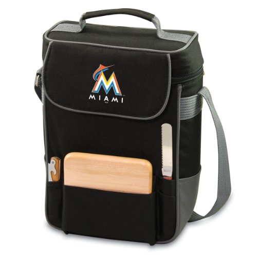 MLB Miami Marlins Duet Insulated 2-Bottle Wine and Cheese Tote