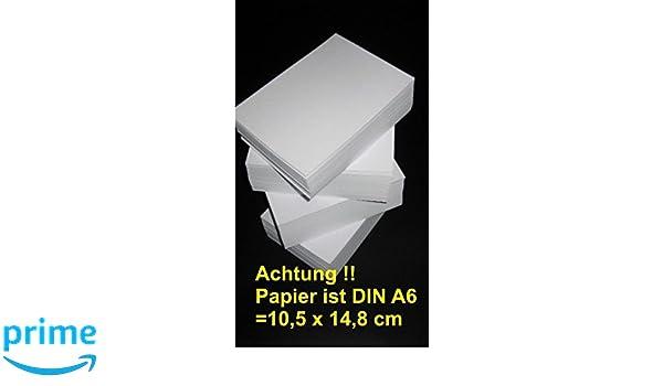 Papel DIN A6, color blanco de 160 g 1000 hojas Navegador: Amazon ...