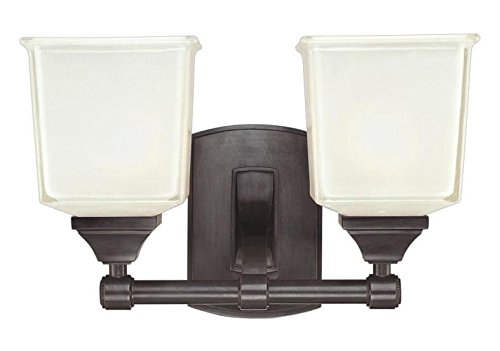 - Old Bronze Two Light Wall Sconce from The Lakeland Collection