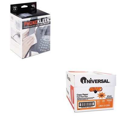 KITREARR1303UNV21200 - Value Kit - Read Right PhoneKleen Wet Wipes (REARR1303) and Universal Copy Paper (UNV21200) (Wet Wipes Phonekleen)