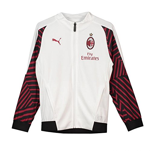 adidas 2018-2019 AC Milan Puma Stadium Training Jacket (White) - Kids