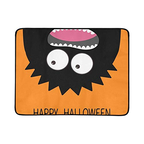 Happy Halloween Card Monster Head Silhouette Portable and