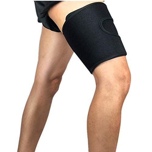 Mcolics Compression Recovery Thigh Sleeve, for Sore Hamstring, Groin, Quad Support – Upper Leg Sleeves for Men and Women Running & All Sports! (1 Sleeve) (Black) - Pad Female Groin