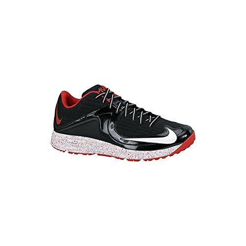 Nike Mens Lunar MVP Pregame 2 Training Shoe, Negro/Rojo, 47.5 D(M) EU/12.5 D(M) UK