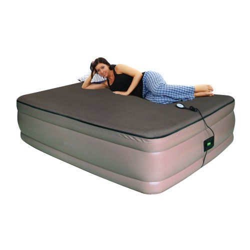 Smart Air Beds Queen Raised Memory Foam Air Bed with Remote Control, Brown, Outdoor Stuffs