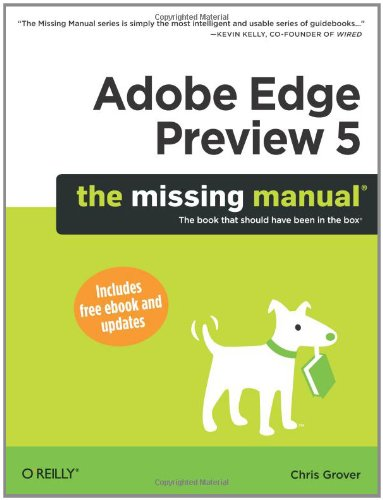 Adobe Edge Preview 5: The Missing Manual Front Cover