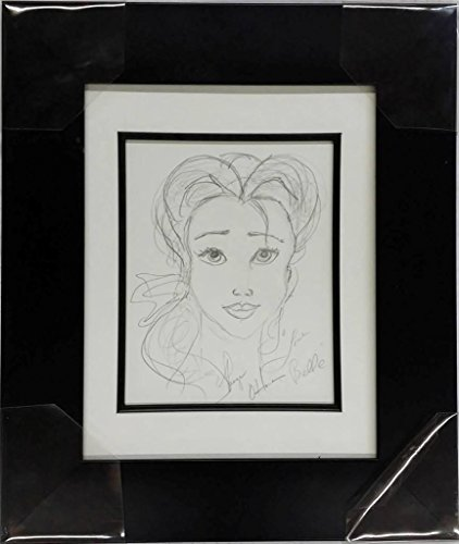 Paige O'Hara Voice of Belle Signed Disney Beauty And The Beast Sketch Artwork