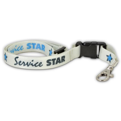 PinMart's Service Star Full Color Lanyard w/ Safety Release