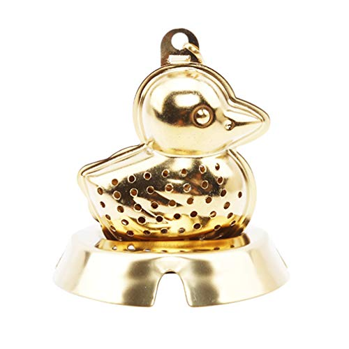 EH-LIFE Teapot Cute Duckling Shape with Tray Tea Set Tea Brew Home Kitchen Tea Supplies Gift Gold by EH-LIFE (Image #4)