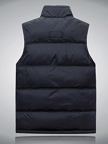 Gilet Chaud Casual Manteau Hiver Bleu Manches Automne Sans Foncé Ochenta Homme YxfqwpIw