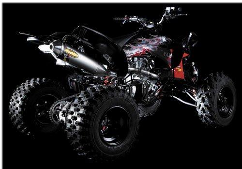 04-13 YAMAHA YFZ450: FMF Q4 Spark Arrestor Slip-On Exhaust (Aluminum) ()