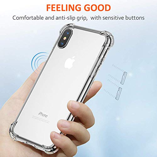 size 40 0844d dcb6f Matone for iPhone Xs Max Case, Crystal Clear Slim Protective ...