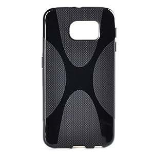 Teléfono Móvil Samsung - Cobertor Posterior - Color Sólido/Diseño Especial - para Samsung Samsung Galaxy S6 ( Negro , TPU )