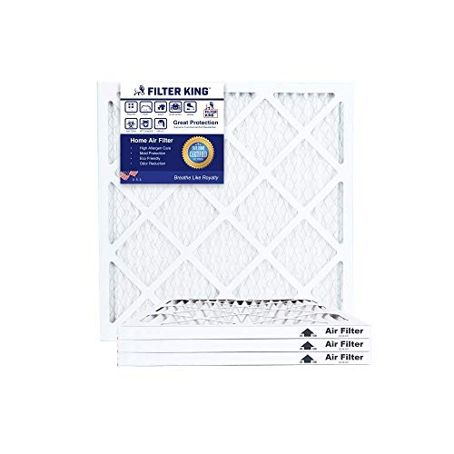Filter King - Filter King 19x19x1 Air Filters | 4 Pack | MERV 8 HVAC Pleated AC Furnace Filters, Protection Against Mold and Pollen, Allergen Reduction, Increases Air Quality