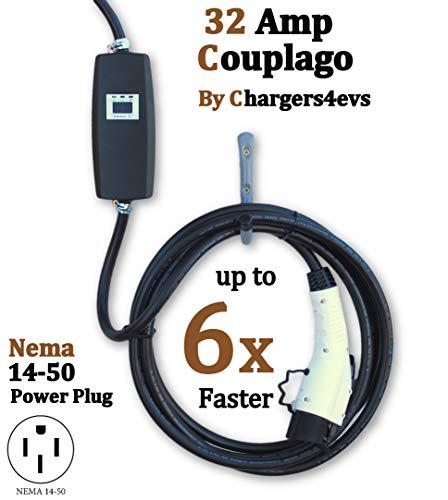 Portable EVSE Smart Electric Car Charger EV PRIMECOM Level 2 Electric Vehicle Charger 30 Feet 220V // 240Volt, 16Amp 14-50P Charger