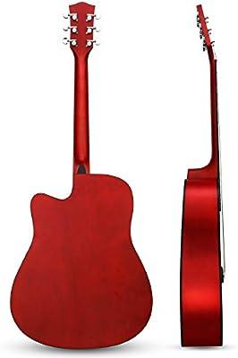 Guitarra Acústica, Hricane Guitarra Clásica 41 Pulgadas Acabado Mate con Cuerda de Metal, Bolsillo Exterior y Cuerdas de Repuesto para llevar fácil (Dreadnought,Color Natural) …: Amazon.es: Instrumentos musicales