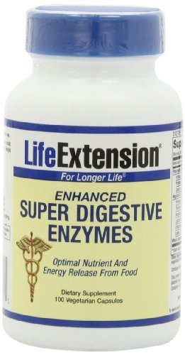 Life Extension Enhanced Super Digestive Enzyme, 100 Vegetarian Capsules