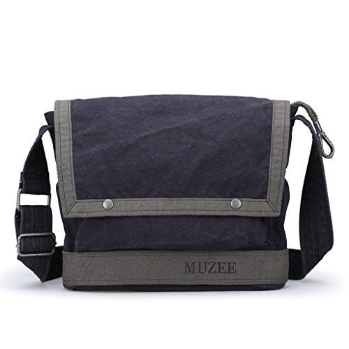 Muzee Men's Shoulder Bag Vintage Military Men Canvas Messenger Bag for School