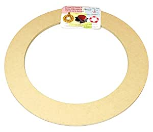 "Biodegradable Floral Craft Ring, 9"" Ez Glueable Wreath / Laurel Form, for Photo Frame, Candle Ring, Etc"