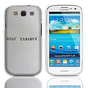 PEACH-Stay Curious Design Hard Case with 3-Pack Screen Protectors for Samsung Galaxy S3 I9300
