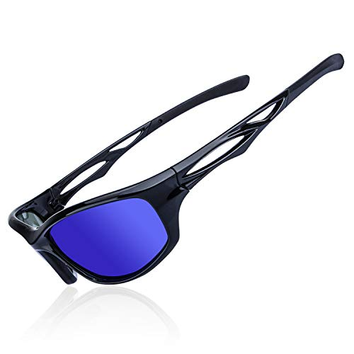 AOKNES Polarized Sports Sunglasses tr90 Unbreakable Frame for Running Cycling Baseball Fishing Driving, UV ()