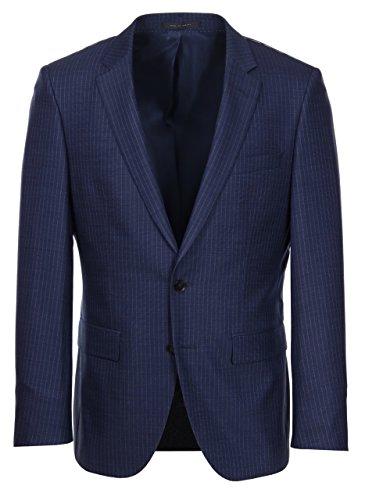 Hugo Boss T-Harvers/Glover Slim Fit Navy Pinstripe Suit (Navy, 42L)