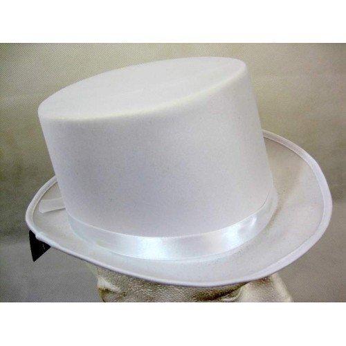 Top Hat Satin White 59cm by CC (White Satin Top Hat)