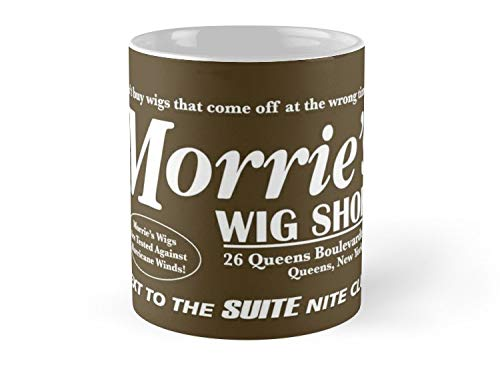 Shield Won Mug Morries Wig Shop (White Print) Mug - 11oz Mug - Features wraparound prints - Made from Ceramic - Best gift for family friends ()