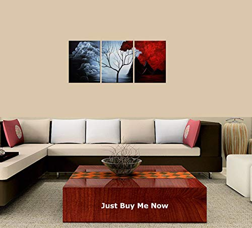PEACOCK JEWELS Premium Quality Canvas Printed Wall Art Poster 3 Pieces / 3 Pannel Wall Decor Abstract Painting, Home Decor Pictures - with Wooden ()