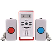 VIVISKY Wireless Remote Call Button Nurse Alert System -Patient Call Button & Caregiver Personal Pager - 500 ft.Range nurse call system (3-in-1 Set)