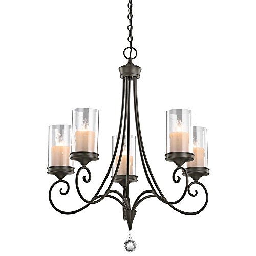 Kichler 42861SWZ Lara Chandelier 5-Light, Shadow Bronze