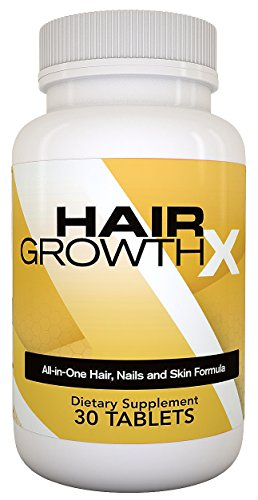 Hair Growth X All-in-one Hair Nail and Skin Formula Dietary Supplement, 30 Tablets