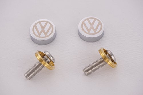 (Volkswagen Laser Engraved Chrome Cap for License Plate Frame)