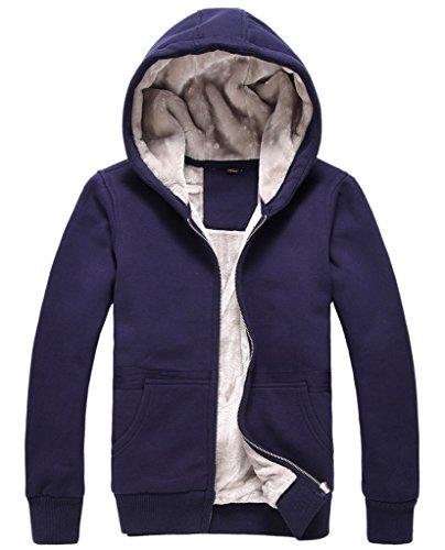 Imbottite Blu Invernale Cappuccio Hoodies Da Cappotto Uomo La Donna Vogue felpe Con PwPaXq