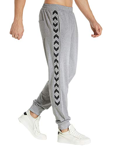 De Bas Modchok Fit 3 Homme Sport Slim Pants Survêtement Gris Pantalons Clair Sarouel Sweat EFqYcYz
