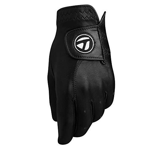 Glove Black Golf Feel - TaylorMade Tour Preferred Vivid Glove (Black, Left Hand, Medium), Black(Medium, Worn on Left Hand)