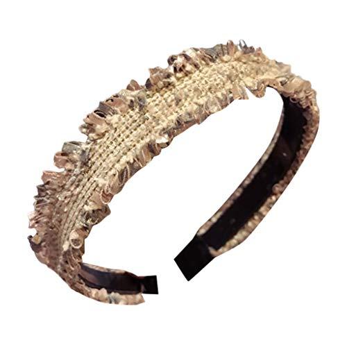 Temperament edging braided headband wide-side anti-slip belt headband sweet simple headband hair accessory -