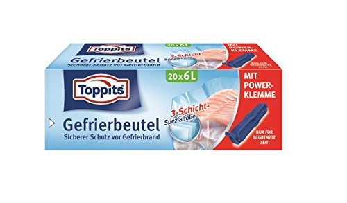 Toppits Gefrierbeutel 1l, 1er Pack (1 x 100 Stück)